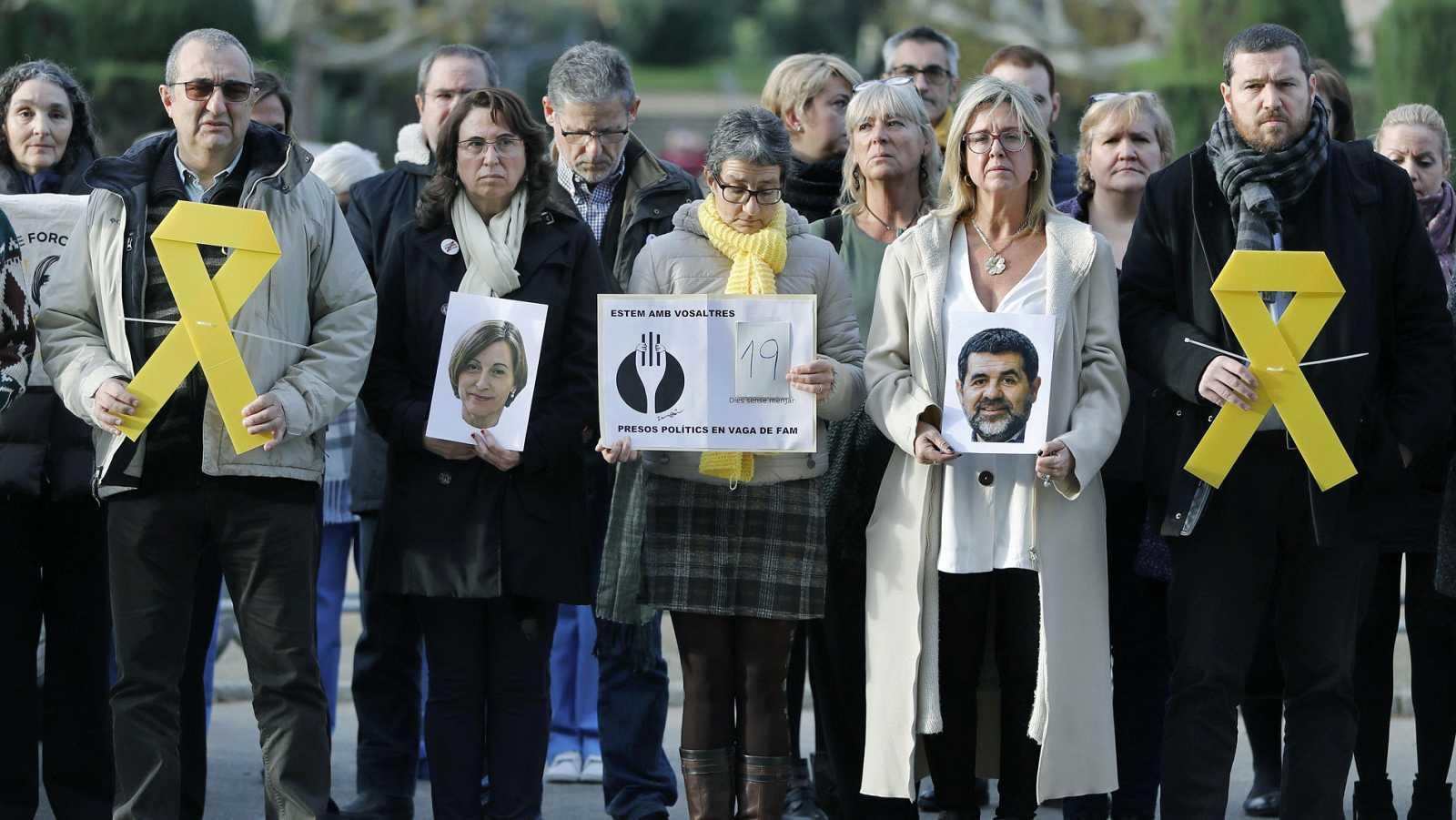 Comunicado de los políticos presos anunciando que dejan la huelga de hambre