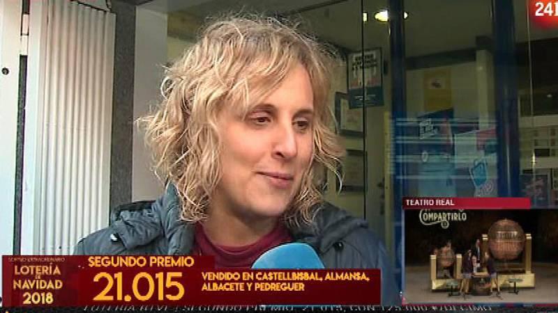 La Lotería de Navidad 2018 ha sonreído a la provincia de Barcelona. Pérsida, que regenta una administración de loterías en la localidad catalana de Castellbisbal, ha declarado a RTVE después de haber repartido décimos del número 21.015, agraciado con