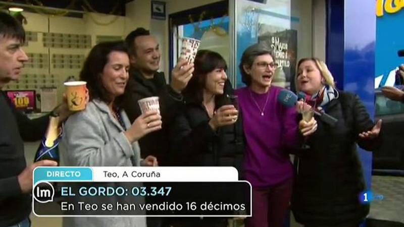 La mañana - Teo (A Coruña), agraciada con El Gordo (3.347)