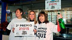 El segundo premio de la Lotería de Navidad, el 21.015, riega de millones Almansa