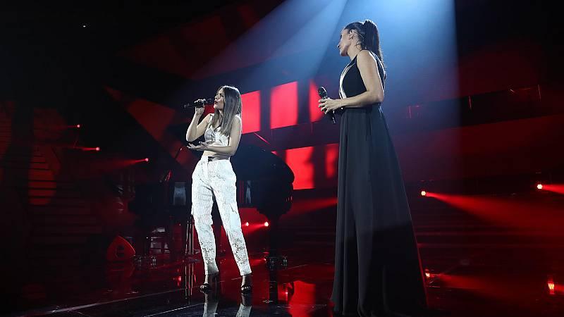 "OT 2018 - Sabela y Rosa Cedrón cantan ""Negro caravel"" en la gala de Navidad"