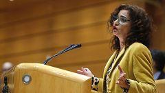 Montero reprocha al PP el veto en el Senado a la senda de déficit propuesta por el Gobierno