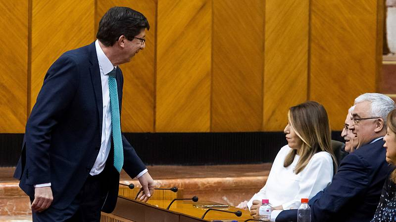 """Juan Marín considera que Susana Díaz está """"tocada"""" tras los resultados electorales del 2 de diciembre"""