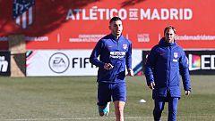 Lucas Hernández apura su recuperación en el último entrenamiento de 2018 del Atleti
