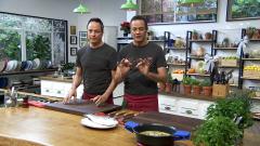 Torres en la cocina - Arroz con grelos y lubina a la sal
