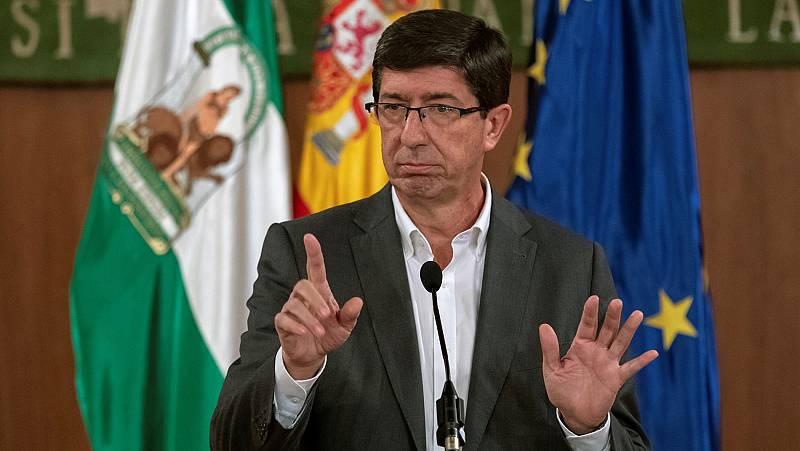 """Juan Marín: """"Si las negociaciones del PP con Vox afectan al acuerdo alcanzado con Cs, lo daremos por roto"""""""