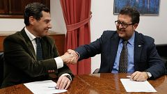 Acuerdo entre PP y Vox para investir a Juan Manuel Moreno como presidente de Andalucía