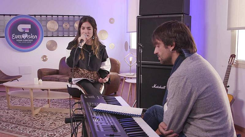 """Eurovisión 2019 - Julia ensaya """"Qué quieres que haga"""""""