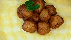 Torres en la cocina - Buñuelos de tofe de plátano