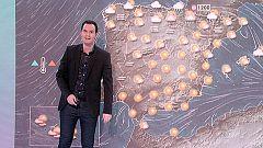 El anticiclón sigue mandando en la Península, con un frente frío que deja precipitaciones en el Cantábrico oriental