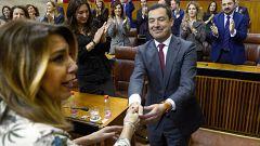 Moreno, investido presidente de la Junta de Andalucía gracias a los votos de Cs y Vox