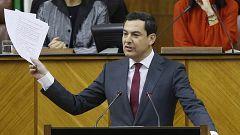 """Moreno defiende su acuerdo con Vox en Andalucía: """"Llegaremos hasta donde sea razonable"""" en política de género"""