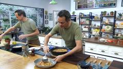Torres en la cocina - Garbanzos a la mediterránea y bacalao con habitas