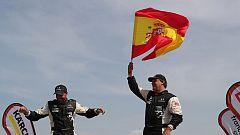 Los españoles en coches hacen balance del Dakar 2019