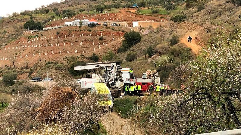El operativo de rescate de Julen espera iniciar este viernes la perforación del túnel vertical para acceder hasta el pozo