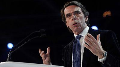 """Aznar: """"Tenemos un líder como un castillo"""""""