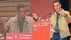 Desde Canarias Pedro Sánchez critica la vuelta al pasado del PP