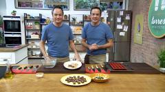 Torres en la cocina - Raviolis de langostinos y shiitake. Financiers