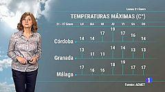 El tiempo en Andalucía - 21/01/2019
