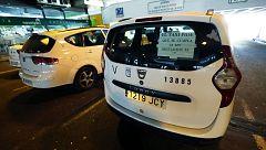 Los taxistas cortan carreteras durante la huelga
