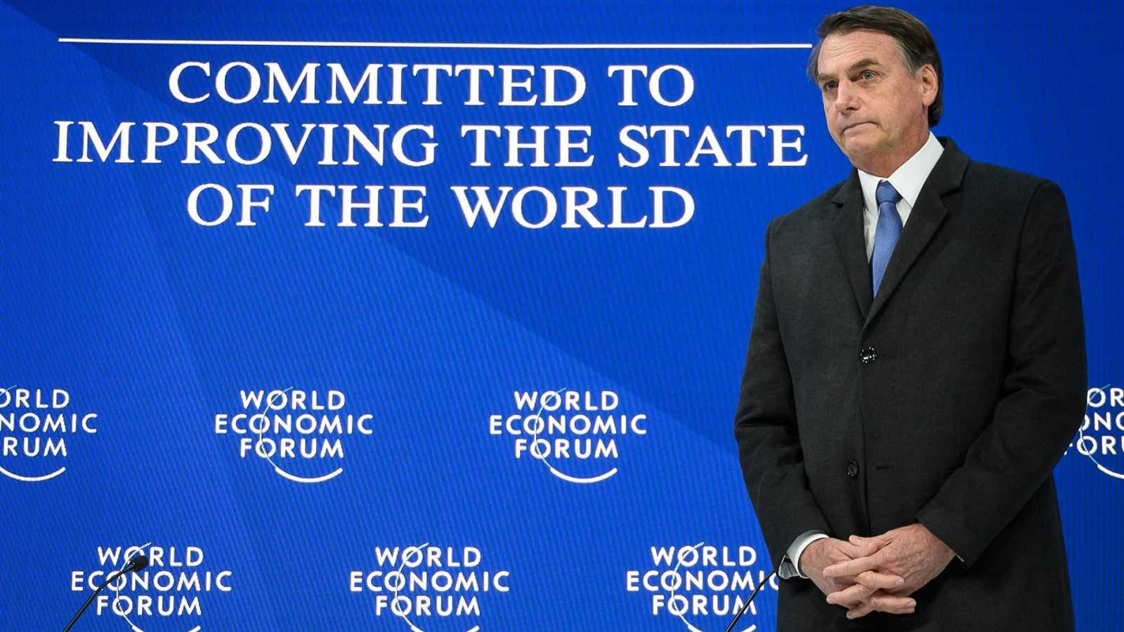 """Bolsonaro arremete en Davos contra la izquierda, que """"no prevalecerá"""" en América Latina"""
