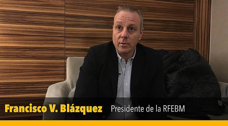 El presidente de la RFEBM, Francisco V. Blázquez, expone que están sujetos a unos plazos que les imponen los organismos europeos o mundiales y el país o los países organizadores a la hora de asignar las entradas para los campeonatos.