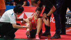 Carolina Marín se retira de la final de Indonesia entre lágrimas