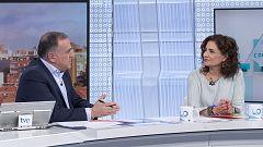 Los desayunos de TVE - María Jesús Montero, ministra de Hacienda, y Alberto Garzón, coordinador federal de IU