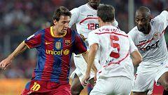 Copa del Rey: Messi, ante el reto de remontar al Sevilla, su víctima preferida