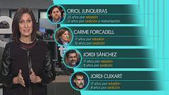Quiénes son los doce líderes independendistas que se sientan en el banquillo del Supremo