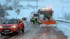 Helena complica la circulación en varias carreteras y pone a 44 provincias en riesgo por viento o nevadas