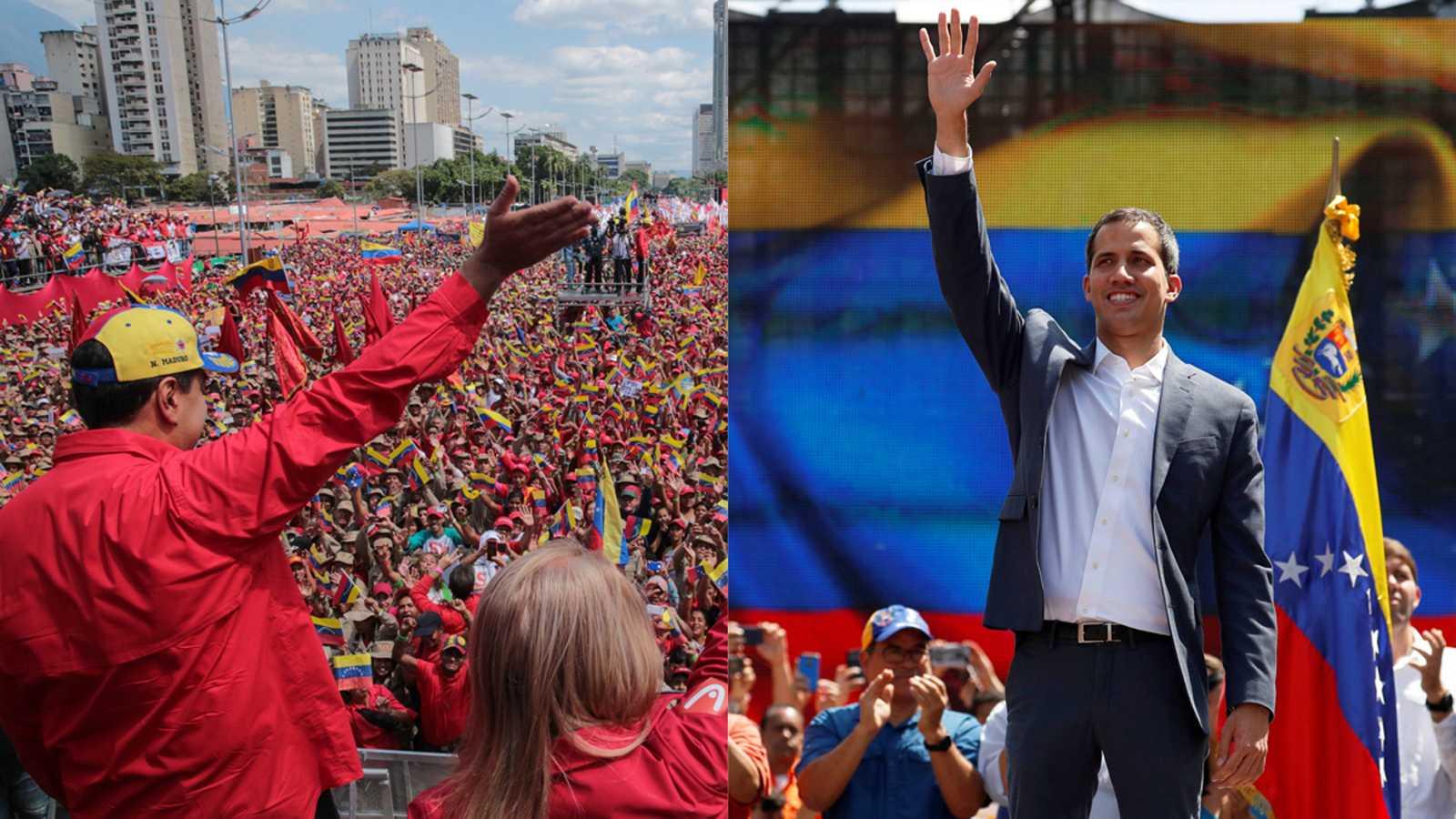 El pulso entre Maduro y Guaidó se vive en las calles de Caracas - Ver ahora