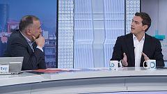 Los desayunos de TVE - Albert Rivera, presidente de Ciudadanos, y Roger Torrent, presidente del Parlamento de Cataluña