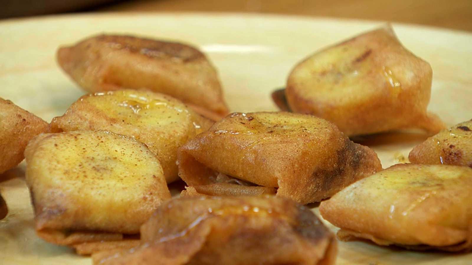 Torres en la cocina - Crujientes de plátano y chocolate