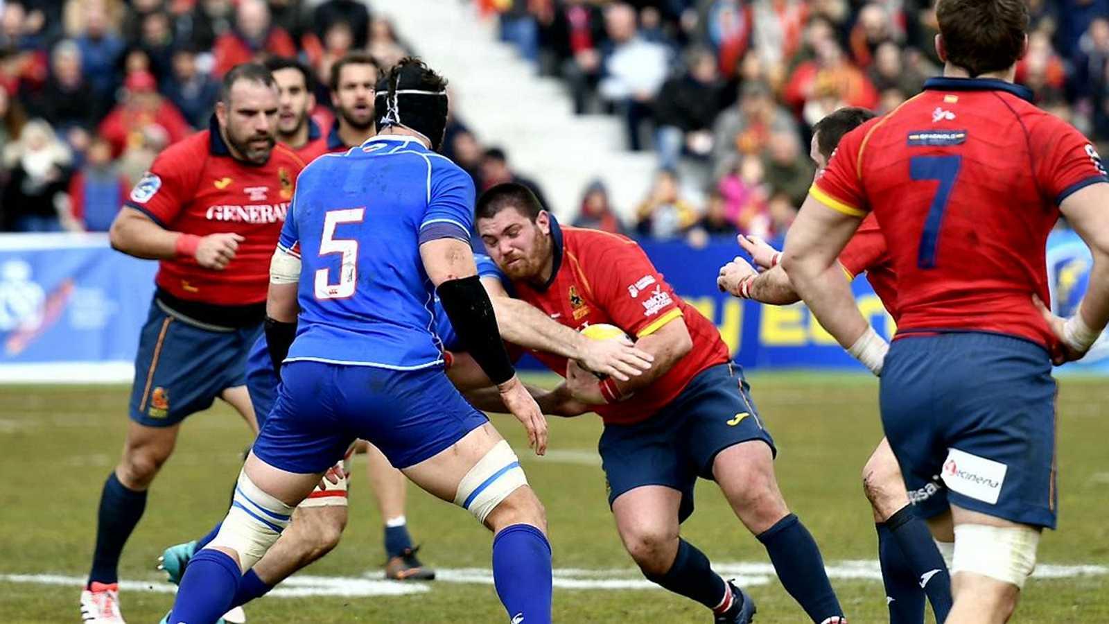 España remonta para ganar 16-14 a Rusia en el Europeo de rugby