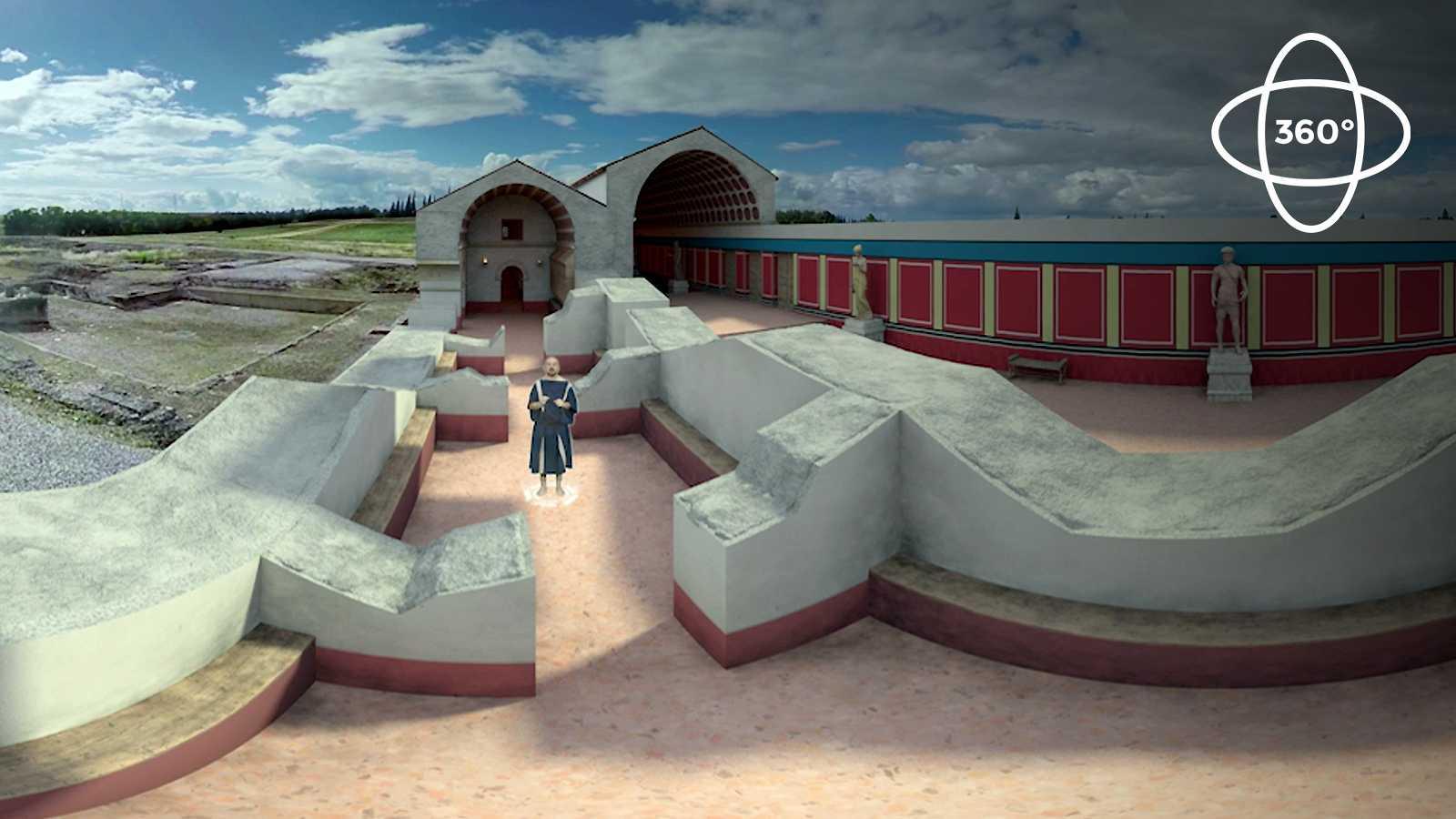 Ingeniería romana 360º: Termas Mayores de Itálica