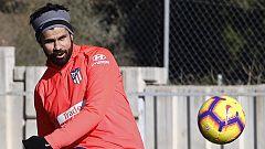 Diego Costa se entrenó junto al resto del equipo