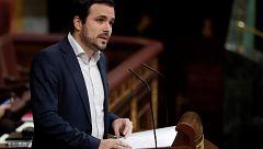 Alberto Garzón pide a ERC y PDeCAT que no tumben los presupuestos