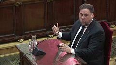 """Junqueras: """"Estoy en un juicio político y no contestaré a las preguntas de las acusaciones"""""""