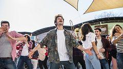 Telediario - Miki graba el videoclip de 'La venda'