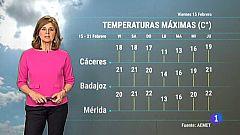 El Tiempo en Extremadura - 15/02/19