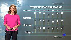 El tiempo en Andalucía - 15/02/2019