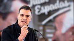 """Sánchez: """"Si no hay movilización el próximo 28 de abril, la abstención puede dar el triunfo al extremismo"""""""