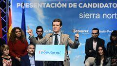 """Casado dice que el PP defiende la Constitución y la unidad de España frente al """"caos"""" de Sánchez"""