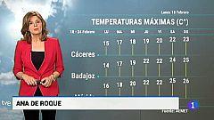 El tiempo en Extremadura - 18/02/19