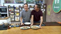 Torres en la cocina - Crema de setas y pies de cerdo en salsa verde