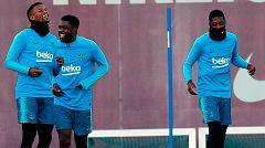 El Barça viaja a Lyon con el recuperado Umtiti