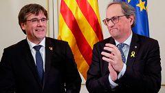 """Torra y Puigdemont critican la """"pasividad europea"""" ante el juicio del 'procés'"""