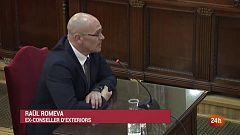 Romeva fa alegat politic i no respon acusacions i fiscals