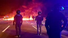 Cortes de tráfico y de trenes en Cataluña por la huelga contra el juicio del 'procés'